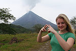 Brett, with Arenal Volcano in the middle of an eruption!!